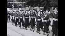Défilé du 6ème BCA 08 Sept.1944/ De Gaulle à Grenoble