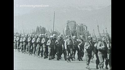 4ème Division Marocaine de Montagne revenant d'Italie en Septembre 44